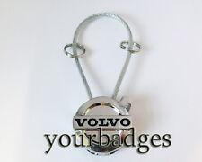 New Chrome Metal Volvo Corded key chain keyring