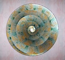 Sun Wall Hanging Spiral Teal Sun 22 Inches Regal Art Metal Wall Decor