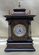 Antique/ European Style Marble Clock w. Five Gold Finish Gourd Shape Pointed Rod