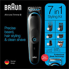 BRAUN 7 in 1 Beard Trimmer and Hair Clipper, Shaver, Body Grooming Kit MGK3245