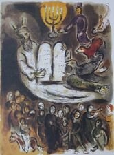 Chagall Marc : Moses and the Tables of the Law - Signed Lithography  #500 copies