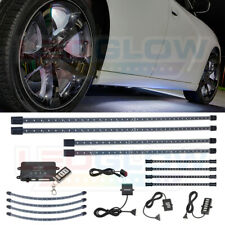 LEDGLOW 4PC WHITE LED UNDER CAR BODY LIGHTS 4PC WHEEL WELL & 4pc INTERIOR LIGHTS