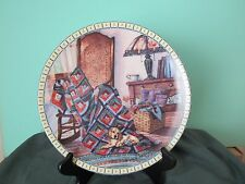 """Cozy Country Corners Plate """"Warm Retreat"""" #310A By Hannah Hollistor, No Box"""