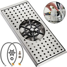 """Glass Rinser Stainless Steel Drip Tray 13.2""""X5.9""""Cup Washer Cleaner Bar Kitchen"""