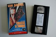 """Cassette Vidéo Ancien ACTION Vidéo JC Van Damme """"Chasse à l'homme"""""""