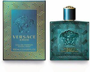 Versace Eros by Versace, 3.4 oz EDP Spray for Men Eau De Parfum brand new sealed