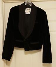 Pioneer Wear Women's L Sz 42 Black Velvet Ranch Wear Jacket Equestrian Horse New