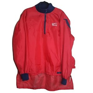 Mens XL Boathouse Row Sports LTD USRowing Red Nylon Jacket w Pocket Banded Cuff
