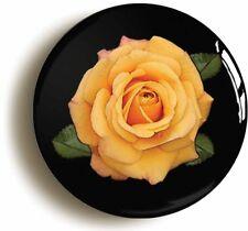 AMBER ROSE FLOWER BADGE BUTTON PIN (Size is 1inch/25mm diameter) GARDEN