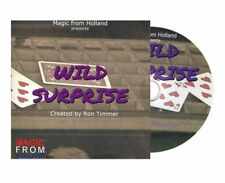 Wild Suprise Dvd & Bicycle Blue Gimmick By Ron Timmer Magic Card Tricks Close Up