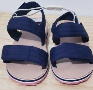Zara Baby Girls Sandals Size 8 Navy NWT