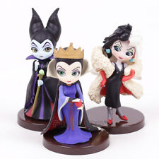 "Q Posket Petit Maleficent Cruella Figure Set of 3 Villains 3.5"" Toy Doll New"