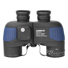 7X50mm Binoculars Telescope BAK4 HD Prism Waterproof With Rangefinder Compass