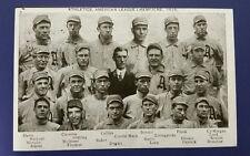 "1910 A.L. Champion Athletics Trolley-Size Postcard (Reproduction) 11"" x 17 1/4"""