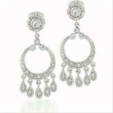Sterling Silver HOOP Chandelier EARRINGS