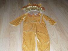 Infant Size 12-18 Months Velour Lion Halloween Costume Jumpsuit and Headpiece