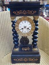 pendule portique napoleon 3/old clock/old french pendulum/bronze