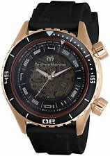 New Mens TechnoMarine TM 218006 Automatic Black Rubber Strap 47mm Watch