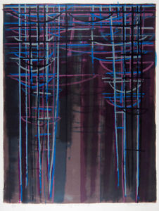 David RANKIN River of Stars II - Signed Large Abstract Screenprint, Landscape