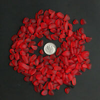 red ruby-like sea beach glass small 20 pieces lots 8-12mm jewelry use