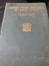 Export Trade Directory of South Africa 1966/1967 Big  DETAILED