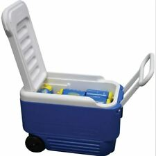 Igloo Wheelie Cool 36 Litre Drinks Cooler Cool Box Wheeled Blue Fishing Camping