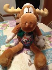 "1996 Bullwinkle Macy'S 24"" Stuffed Christmas Moose Doll & Rocky Collectible Nwt"