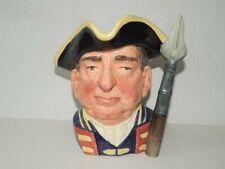 "7.5"" Large Royal Doulton ""Guardsman"" D6568 Character Toby Jug Spear Handle"