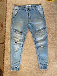 Mens NXP Nena & Pasadena Cotton/Elastane Jeans Joggers Size 36 - VG Cond