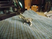 "1983 RAWCLIFFE PEWTER COW Figurine 2 1/4"" Super Cute !"