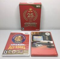 Wii Super Mario All-Stars 25th Anniversary LE Open Box, Sealed Game/Soundtrack