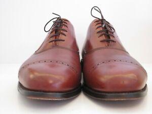 Men's Allen Edmonds Byron Chili Cap Toe Oxfords Size 12 D