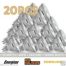 Energizer HALOGEN MR16 GU5.3 12V 40/50W LIGHT GLOBES BULB DOWNLIGHT CLEAR X 20