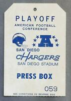 1979 San Diego Chargers AFC PLAYOFFS HOUSTON OILERS NFL Vintage football Ticket
