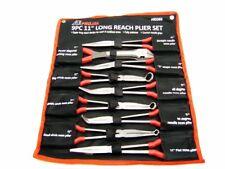 "NEW 9 pc 11"" Long Nose Plier Long Reach Circle Bent Needle Nose Diagonal Cutter"