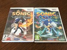 Lot jeux Nintendo wii fra sonic colours+sonic and the secrets rings