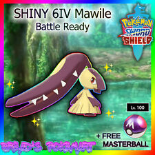 Pokemon SWORD and SHIELD /✨SHINY✨ 6IV MAWILE +MasterBall (Battle Ready Comp Set)