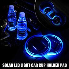 LED Blue Light Solar Waterproof ABS Cup Drink Holder For Boat Car Camper mat