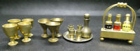 Miniature Brass Drinks - Tantalus, Decanter, Tray, Goblets