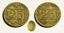 ADDIS ABEBA. Gettone da 25 Centesimi con contromarca Testa di Moro