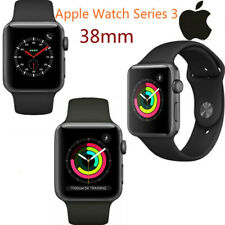 Apple Watch Series 3 38MM Space Gray Aluminum Case Blac GPS+LTE Cellular
