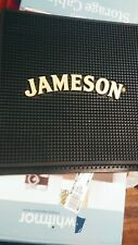 Jameson logo thick rubber bar mat bourbon whiskey man cave gift liquor new