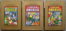 Marvel Masterworks Golden Age CAPTAIN AMERICA Vol 1,2,3 HC VF