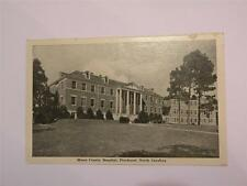 VINTAGE POSTCARD MOORE COUNTY HOSPITAL PINEHURST NC WHITE BORDER