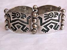 Vintage Mexican Sterling Silver PANEL BRACELET Iguala Gro. 42 grams