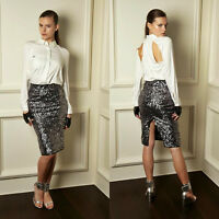 Brand New with tags Karl Lagerfeld Silver Sequin Skirt Size XS RRP £209