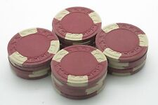 Set of 20 ASM Casino Style HHR Mold Clay Chips Red-Cream Inserts FREE SHIP