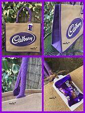 Cadbury Jute Shopper Bag Tote Bag -Gift Tag & Dairy Milk Chocolate Large Bag