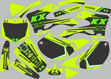 Graphics for 1999-2002 Kawasaki KX KX 250 KX250 Decal fender shrouds Highlighter