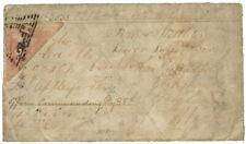 CAPE OF GOOD HOPE 1861 TRIANGULAR 1D MILITARY COVER RARE